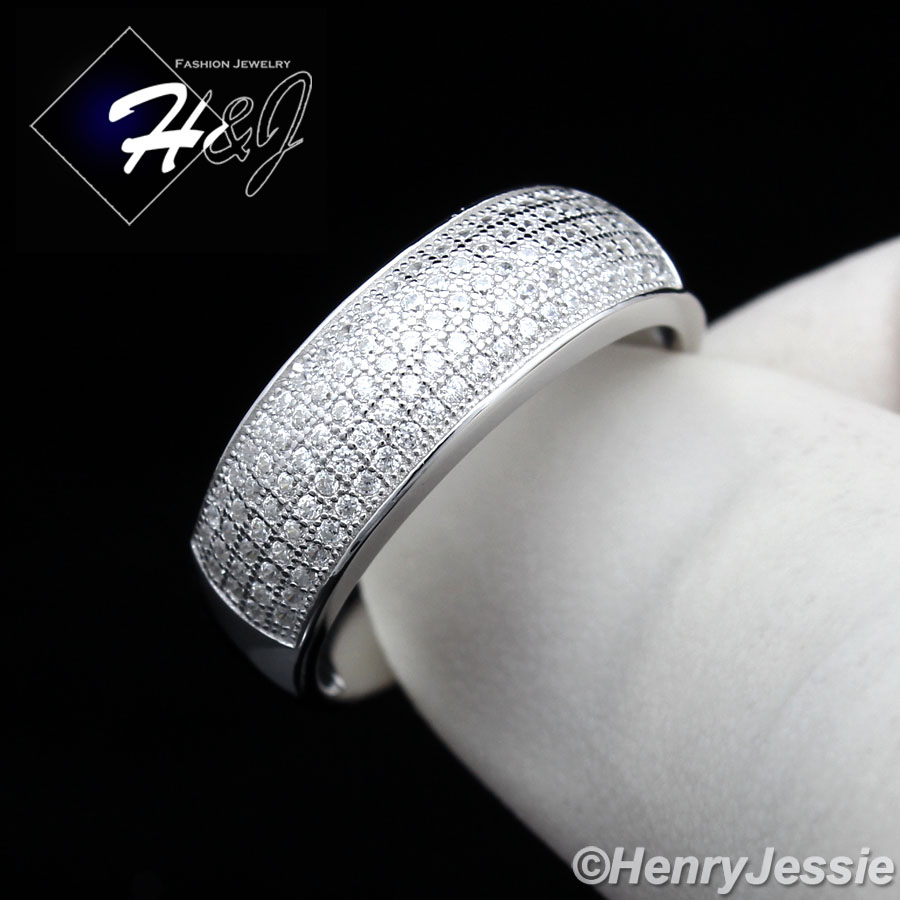 925 sterling silver lab iced out bling