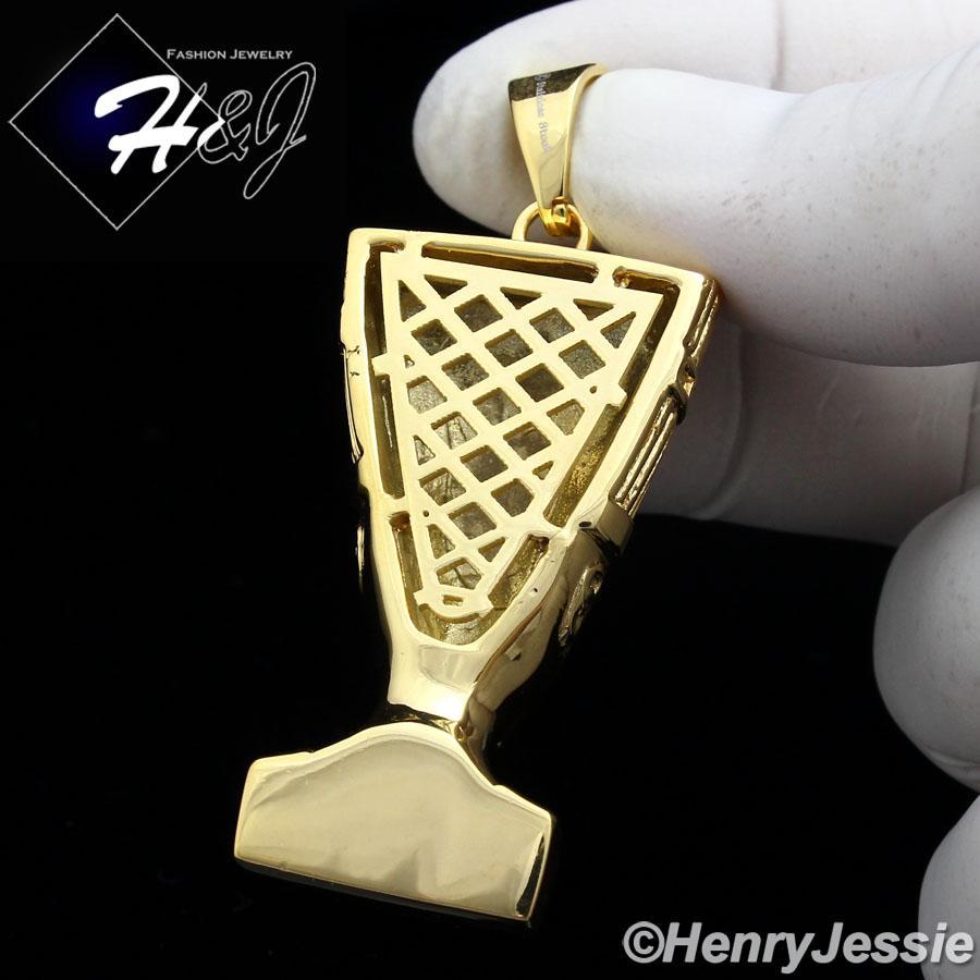 MEN's Stainless Steel HEAVY Gold 3D Egyptian Queen Nefertiti Charm